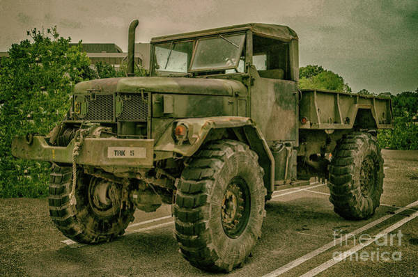 Photograph - 1/2 Ton Army Truck by Dale Powell