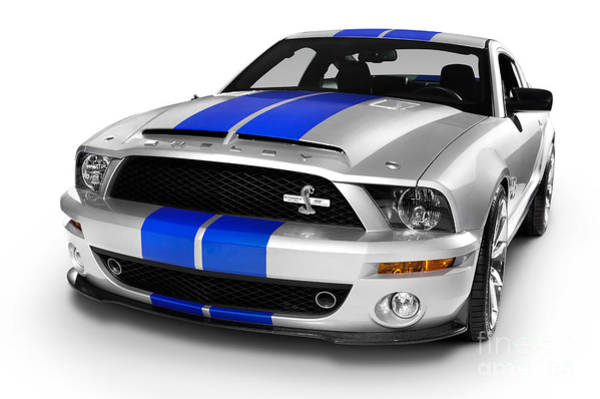 Silvery Photograph - 2008 Shelby Ford Gt500kr by Oleksiy Maksymenko
