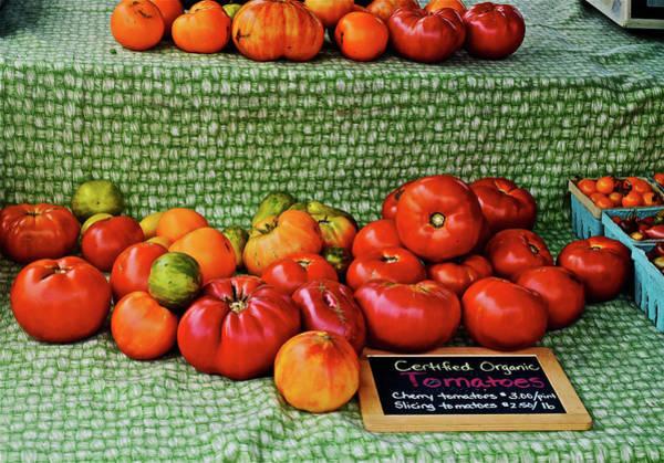 Photograph - 2016 Monona Farmers' Market Organic Heirloom Tomatoes 2 by Janis Nussbaum Senungetuk