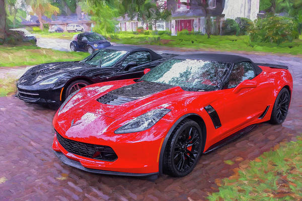 Mag Wheels Wall Art - Photograph - 2017 Chevrolet Corvette Z06 Painted  by Rich Franco