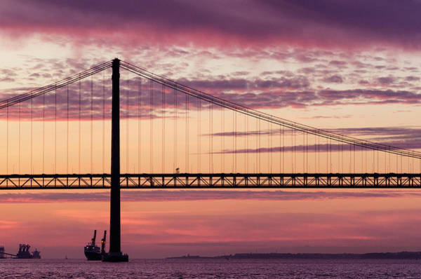 Wall Art - Photograph - 25 De Abril Bridge In Lisbon. by Pablo Lopez