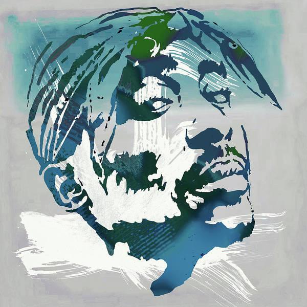 2 Digital Art - 2pac Tupac Shakur Pop Art Poster by Kim Wang