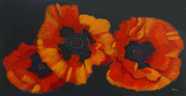 Painting - 3 Poppies by Richard Le Page