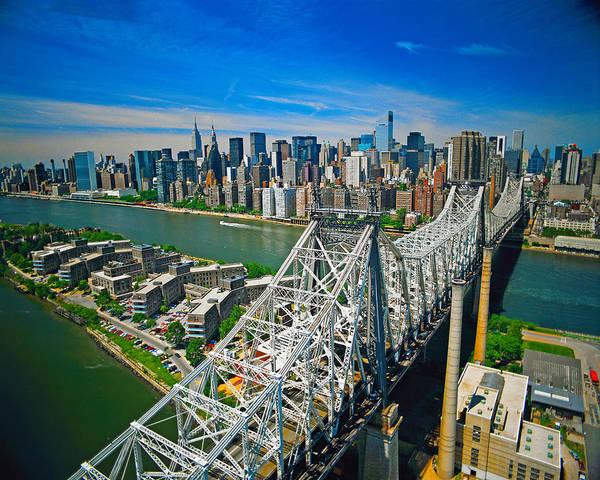 Roosevelt Island Wall Art - Photograph - 59th Street Bridge by Larry Mulvehill