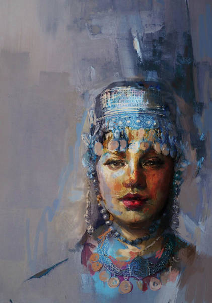 Ajrak Painting - 9 Pakistan Folk Khyber Pakhtunkhwac by Mahnoor Shah