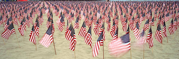 Wall Art - Photograph - 911 Tribute Flags, Pepperdine by Panoramic Images