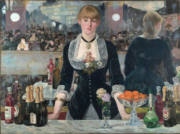 Manet Wall Art - Painting - A Bar At The Folies-bergere by Edouard Manet