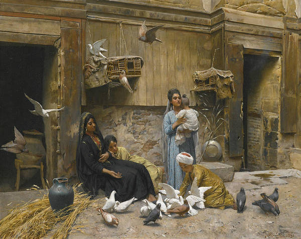 Painting - A Cairene Courtyard by Rudolf Swoboda