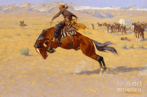 Wall Art - Painting - A Cold Morning On The Range by Frederic Remington