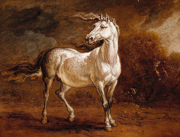 Ward Painting - A Cossack Horse In A Landscape by James Ward