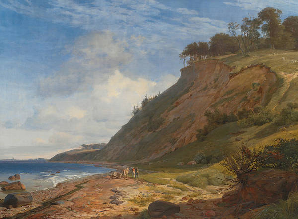Painting - A Danish Coast. View From Kitnaes On Roskilde Fjord. Zealand by Johan Thomas Lundbye