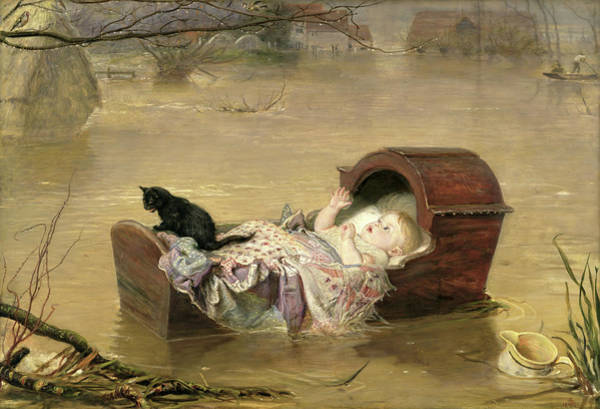 Tragedy Painting - A Flood  by John Everett Millais