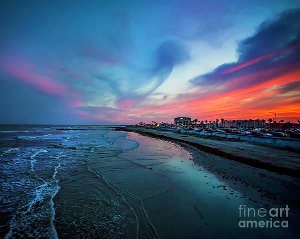 Wall Art - Photograph - A Galveston Sunset by Katya Horner