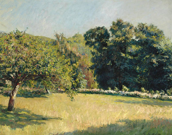 Painting - A Garden In Trouville by Gustave Caillebotte