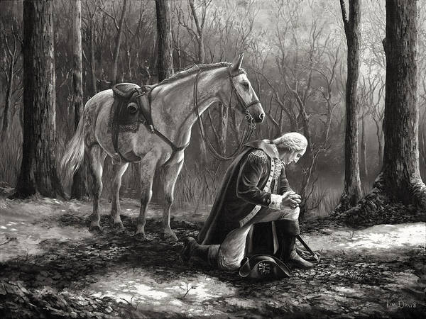 King George Wall Art - Painting - A General Before His King by Tim Davis