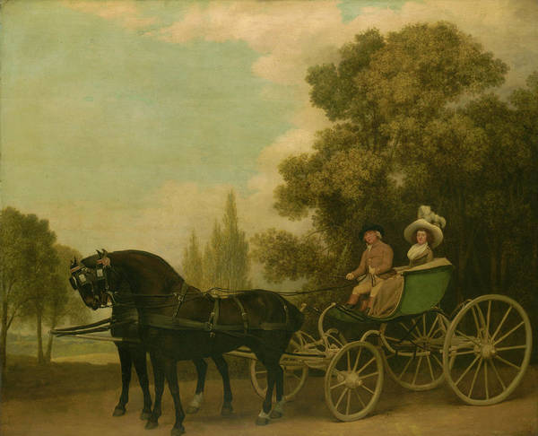 Gentle Man Wall Art - Painting - A Gentleman Driving A Lady In A Phaeton by George Stubbs