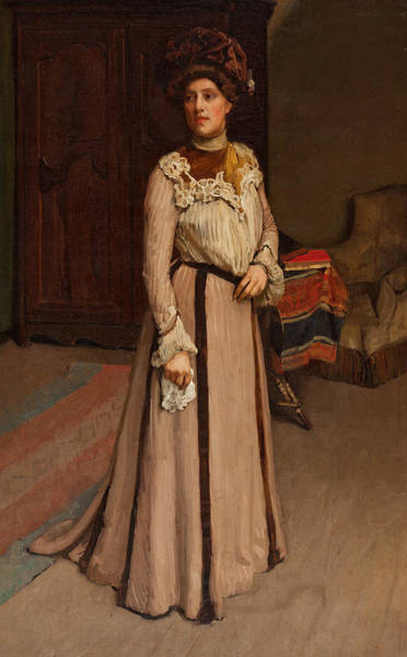 Painting - A Lady Of Cleveland, U.s.a. by Hugh Ramsay