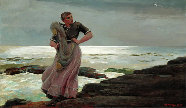 Painting -  A Light On The Sea by Winslow Homer