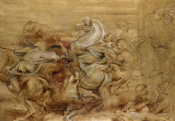 Wall Art - Painting - A Lion Hunt by Peter Paul Rubens