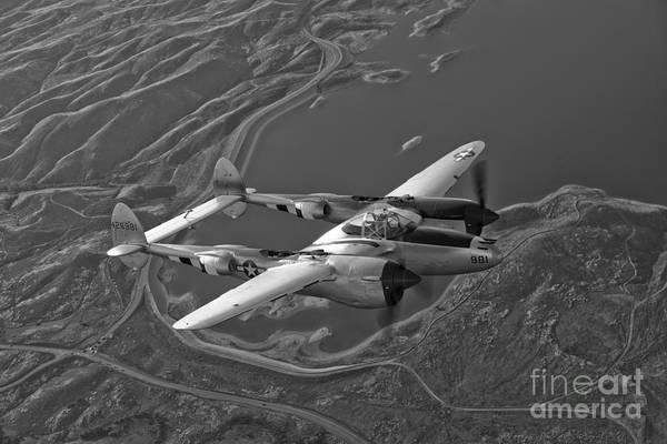 Photograph - A Lockheed P-38 Lightning Fighter by Scott Germain