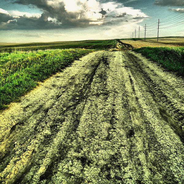 Wall Art - Photograph - A Long Gravel Road by Jeff Swan