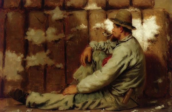 Wall Art - Painting - A Longshoreman by John George Brown