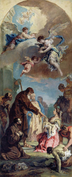 Painting - A Miracle Of Saint Francis Of Paola by Sebastiano Ricci