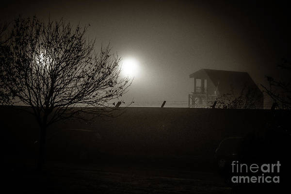 Photograph - A Misty  Foggy Dark Night In The City by Keith Morris