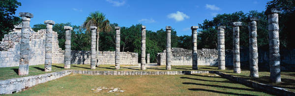 Mesoamerican Photograph - A Panoramic View Of Columns Surround by Panoramic Images
