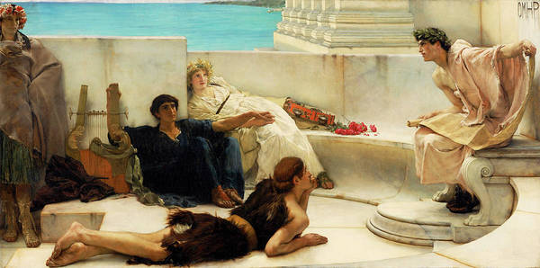 Wall Art - Painting - A Reading From Homer by Sir Lawrence Alma-Tadema