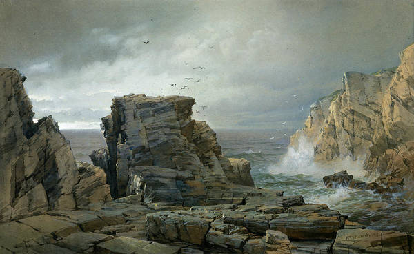 Wall Art - Painting - A Rocky Coast by William Trost Richards