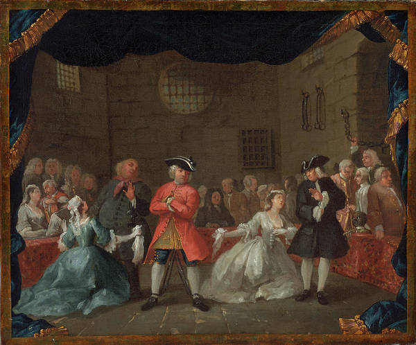 Painting - A Scene From The Beggar's Opera by William Hogarth