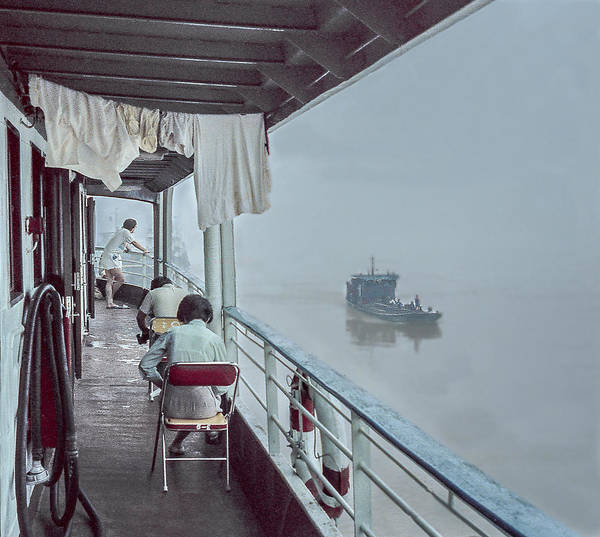 Photograph - A Ship In The Fog by Pete Hendley