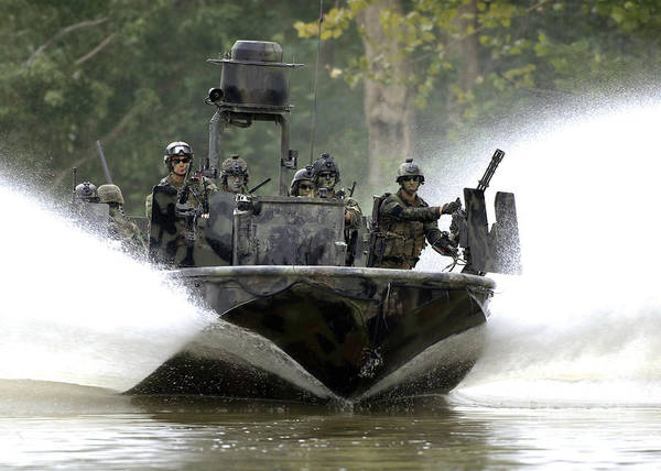 Navy Seal Photograph - A Special Operations Craft Riverine by Stocktrek Images