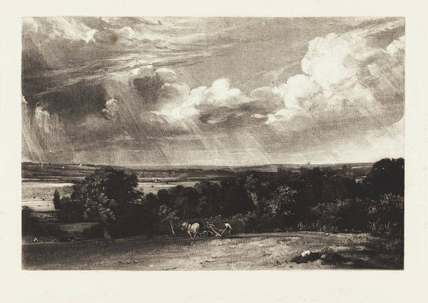 Painting - A Summerland by David Lucas after John Constable