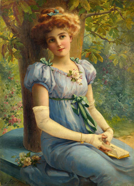 Wall Art - Painting - A Sweet Glance by Emile Vernon