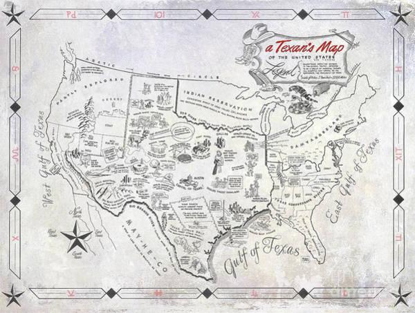 Fort Worth Photograph - A Texan's Map by Jon Neidert