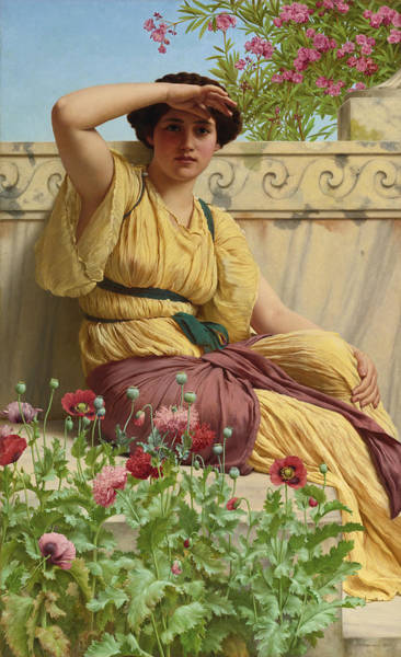 Wall Art - Painting - A Tryst by John William Godward