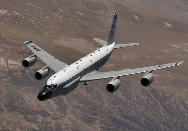 Reconnaissance Photograph - A U.s. Air Force Rc-135 Rivet Joint by Stocktrek Images