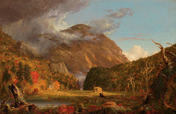 Mountain Range Painting - A View Of The Mountain Pass Called The Notch Of The White Mountains, Crawford Notch by Thomas Cole