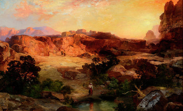 Northern Arizona Wall Art - Painting - A Water Pocket, Northern Arizona by Thomas Moran