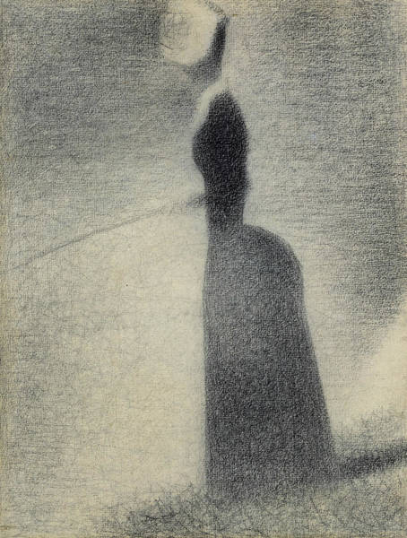 Drawing - A Woman Fishing by Georges-Pierre Seurat