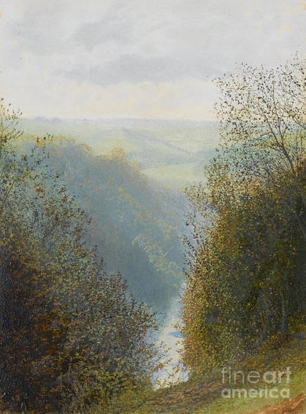 Painting - A Wooded Valley by Celestial Images