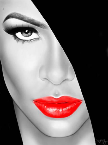 Bailey Digital Art - Aaliyah by Davonte Bailey