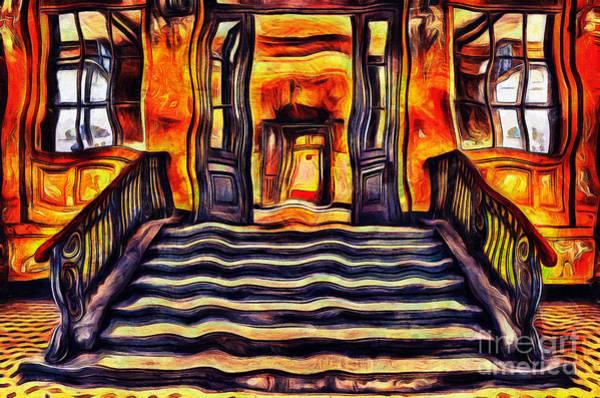 Brick House Mixed Media - Abandoned Stairs by Milan Karadzic