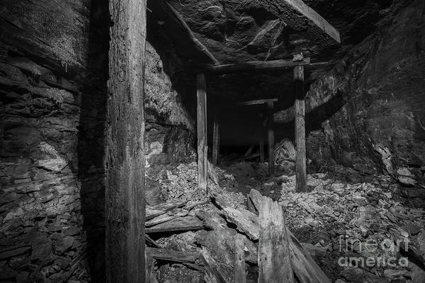 Photograph - Abandoned Tunnel Behind The Falls  by Michael Ver Sprill