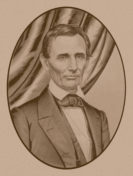 Historian Drawing - Abraham Lincoln Circa 1860  by War Is Hell Store
