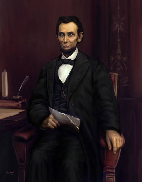 Painting - Abraham Lincoln  by Sue  Brehant