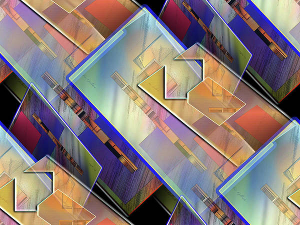 Wall Art - Digital Art - Abstract  145 by Iris Gelbart