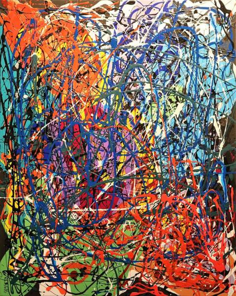Laguna Beach Painting - Abstract Art Inspired No.1 by Carole Sluski